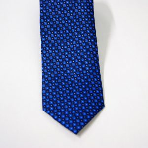 Twill ties - printed silk - classic designs - blue background - COD.N066 - 100% SILK - made in Italy 2