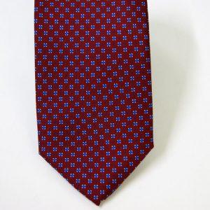Cravatta twill – seta stampata – disegni classici – fondo bordeaux – COD.N068 - SETA 100% - made in Italy2