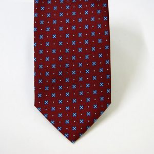 Twill ties - printed silk - classic designs - bordeaux background - COD.N070 - 100% SILK - made in Italy 2