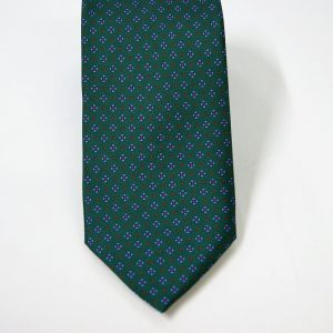 Twill ties - printed silk - classic designs - green background - COD.N054 - 100% SILK - made in Italy 2