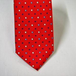 Twill ties - printed silk - classic designs - red background - COD.N060 - 100% SILK - made in Italy 2