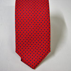 Twill ties - printed silk - classic designs - red background - COD.N061 - 100% SILK - made in Italy 2