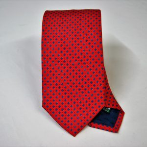 Twill ties - printed silk - classic designs - red background - COD.N061 - 100% SILK - made in Italy