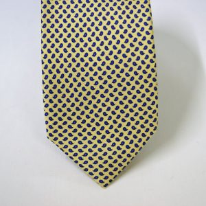 Twill ties - printed silk - classic designs - yellow background - COD.N057 - 100% SILK - made in Italy 2