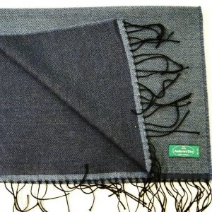 Wool scarf - 190x37 cm – avion blue – solid color – double face - 100% wool - COD.NSL014 - made in Italy 2
