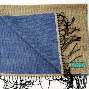 Wool scarf - 190x37 cm – beige avion – solid color – double face - 100% wool - COD.NSL015 - made in Italy 2