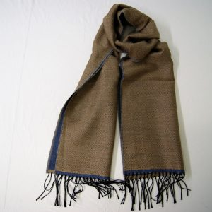 Wool scarf - 190x37 cm – beige avion – solid color – double face - 100% wool - COD.NSL015 - made in Italy