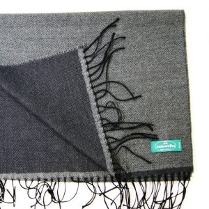 Wool scarf - 190x37 cm – dark gray anthracite – solid color – double face - 100% wool - COD.NSL011 - made in Italy 2