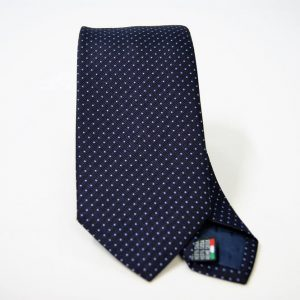 Jacquard ties - pin point - blue light blue - COD.N072 -100% silk - made in Italy