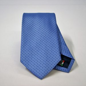 Jacquard ties – pin point – light blue blue – COD.N077 – 100% silk – made in Italy