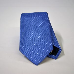 Jacquard ties – pin point – light blue white – COD.N076 – 100% silk – made in Italy