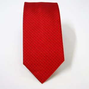 Jacquard ties – pin point – red blue – COD.N078 – 100% silk – made in Italy 2