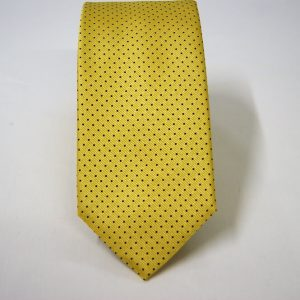 Jacquard ties – pin point – yellow blue – COD.N075 – 100% silk – made in Italy 2
