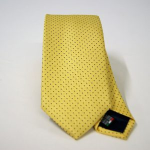 Jacquard ties – pin point – yellow blue – COD.N075 – 100% silk – made in Italy