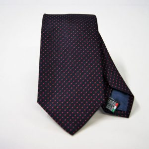 Jacquard ties - pin point - blue red - COD.N073 -100% silk - made in Italy
