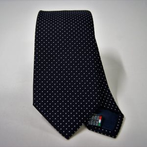 Jacquard ties - pin point - blue white - COD.N071 -100% silk - made in Italy