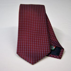 Jacquard ties – cm.7 – Bordeaux light blue – COD.ST021 – 100% silk – made in Italy
