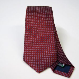 Jacquard ties – cm.7 – Bordeaux light blue – COD.ST022 – 100% silk – made in Italy