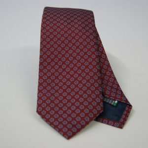 Jacquard ties – cm.7 – Bordeaux light blue – COD.ST023 – 100% silk – made in Italy