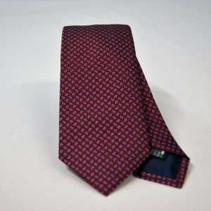 Jacquard ties – cm.7 – Bordeaux light blue – COD.ST024 – 100% silk – made in Italy