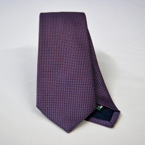 Jacquard ties – cm.7 – Bordeaux light blue – COD.ST025 – 100% silk – made in Italy