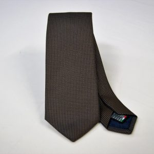 Jacquard ties – cm.7 – Brown light blue – COD.ST020 – 100% silk – made in Italy