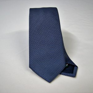 Jacquard ties – cm.7 – blue light blue – COD.ST002 – 100% silk – made in Italy