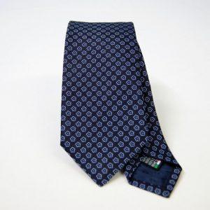 Jacquard ties – cm.7 – blue light blue – COD.ST003 – 100% silk – made in Italy