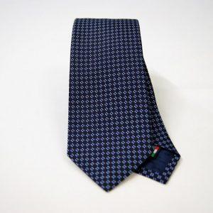 Jacquard ties – cm.7 – blue light blue – COD.ST004 – 100% silk – made in Italy