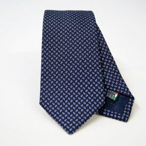 Jacquard ties – cm.7 – blue light blue – COD.ST005 – 100% silk – made in Italy