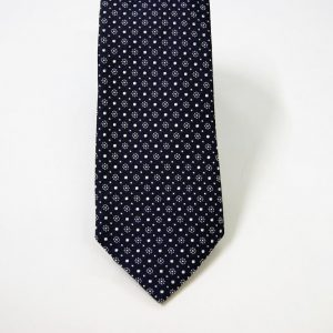 Jacquard ties – cm.7 – blue white – COD.ST008 – 100% silk – made in Italy 2