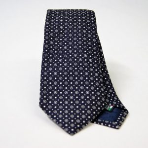 Jacquard ties – cm.7 – blue white – COD.ST008 – 100% silk – made in Italy