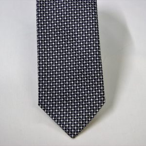 Jacquard ties – cm.7 – blue white – COD.ST009 – 100% silk – made in Italy 2