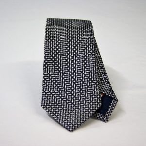 Jacquard ties – cm.7 – blue white – COD.ST009 – 100% silk – made in Italy