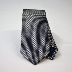 Cravatta Jacquard – cm.7 – blu bianco – COD.ST009 – seta 100% - made in Italy