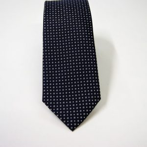 Jacquard ties – cm.7 – blue white – COD.ST010 – 100% silk – made in Italy 2