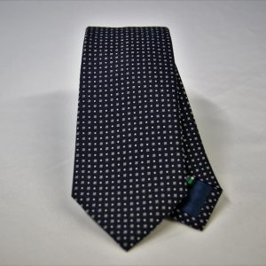 Jacquard ties – cm.7 – blue white – COD.ST010 – 100% silk – made in Italy