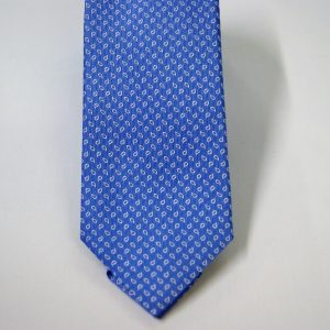 Jacquard ties – cm.7 – light blue white – COD.ST011 – 100% silk – made in Italy 2