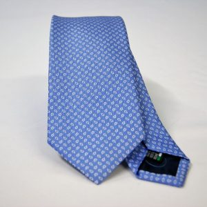 Jacquard ties – cm.7 – light blue white – COD.ST011 – 100% silk – made in Italy