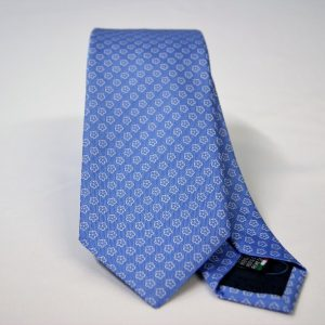 Jacquard ties – cm.7 – light blue white – COD.ST012 – 100% silk – made in Italy