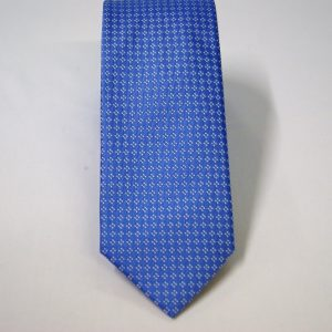 Jacquard ties – cm.7 – light blue white – COD.ST013 – 100% silk – made in Italy 2