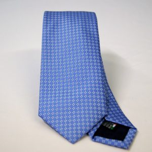 Jacquard ties – cm.7 – light blue white – COD.ST013 – 100% silk – made in Italy