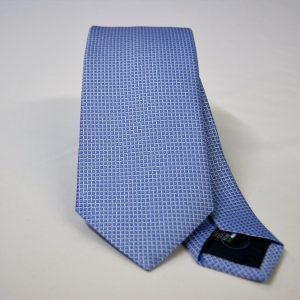 Jacquard ties – cm.7 – light blue white – COD.ST014 – 100% silk – made in Italy