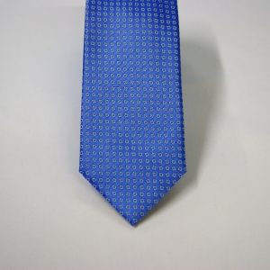 Jacquard ties – cm.7 – light blue white – COD.ST015 – 100% silk – made in Italy 2