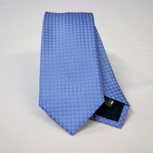 Jacquard ties – cm.7 – light blue white – COD.ST015 – 100% silk – made in Italy