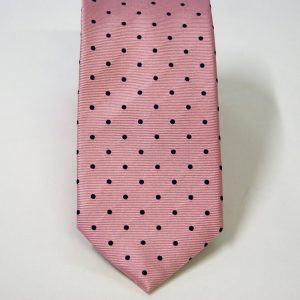 Jacquard ties – pois – pink blue – COD.N087 – 100% silk – made in Italy 2