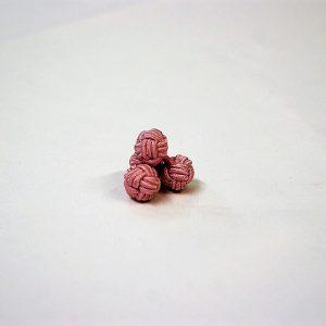 Tie Set Jacquard Pochette - Cotton Cufflinks - pink background - COD.SET002 - 100% silk - made in Italy 2