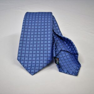 Jacquard - Sevenfold tie – light blue background – COD.7P004 - 100% silk - made in Italy