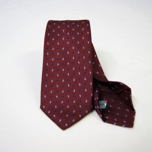 Jacquard - Sevenfold ties – bordeaux background – COD.7P013 - 100% silk - made in Italy