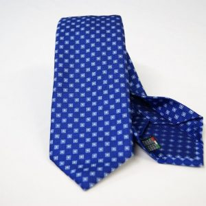 Jacquard - Sevenfold ties – electric blue background – COD.7P007 - 100% silk - made in Italy